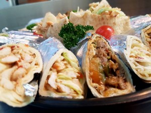 Pita and wrap platter